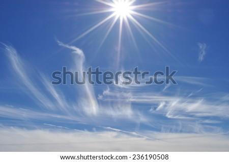 Sunrise in Jordan - stock photo