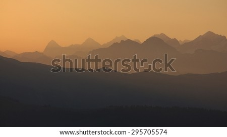 Sunrise in the Bernese Oberland