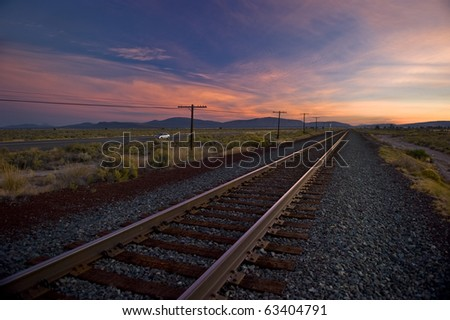 Sunrise in the Cascade Mountains in Oregon - stock photo