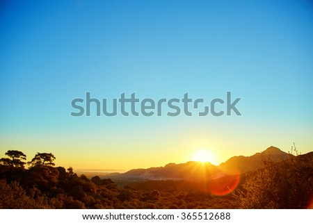 Sunrise Mountain Stock Images RoyaltyFree Images Vectors - This man hikes up the transylvanian mountains every morning to photograph sunrise