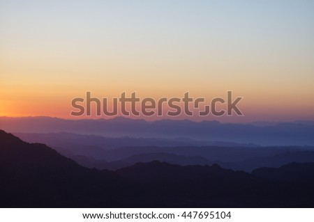 sunrise in the mountains of Egypt