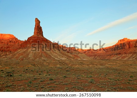 Sunrise in the Utah desert, USA. - stock photo
