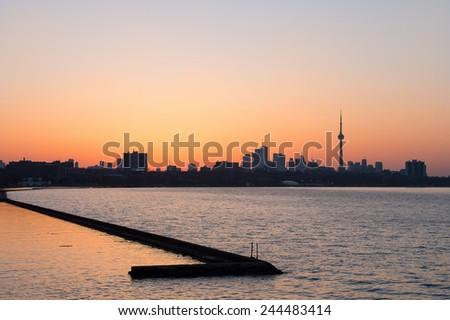 Sunrise in Toronto - stock photo