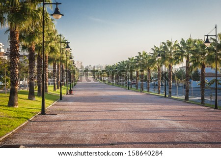 sunrise in Torremolinos, Spain - stock photo
