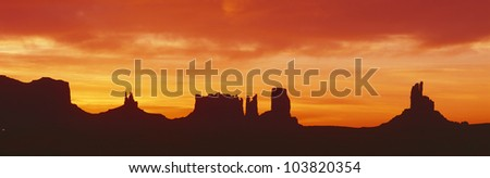 Sunrise, Monument Valley, Arizona - stock photo