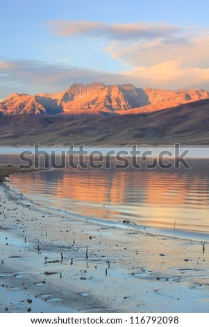 Sunrise, Mount Timpangos, Utah, USA. - stock photo