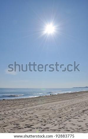 Sunrise on Beach - stock photo