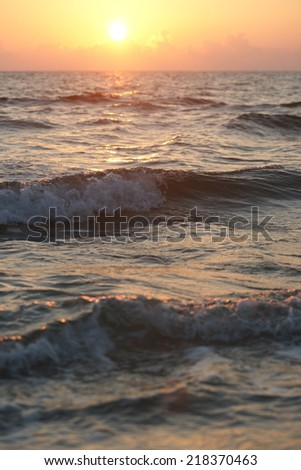 Sunrise on Black sea