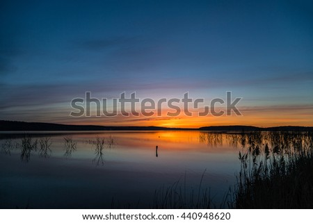 Sunrise on the lake