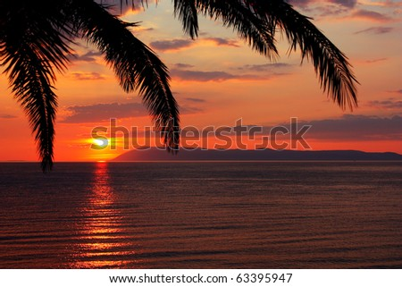 Sunrise on the sea - stock photo