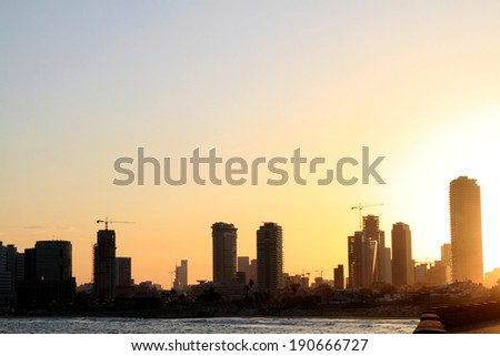 sunrise on the seafront of tel aviv by Jagga
