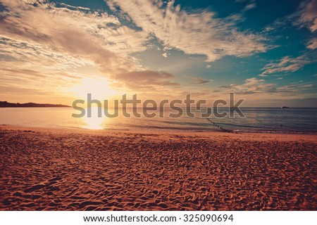 Sunrise on the Thailand beach