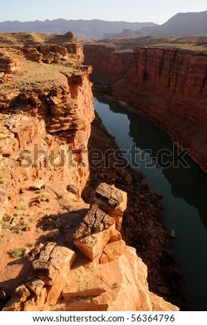 Sunrise over Marble Canyon - stock photo