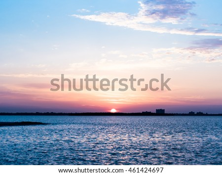 Sunrise over Tampa Bay near Fort Desoto Park