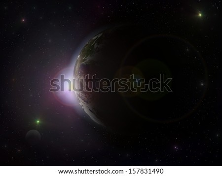 Sunrise over the Earth. Elements of this image furnished by NASA