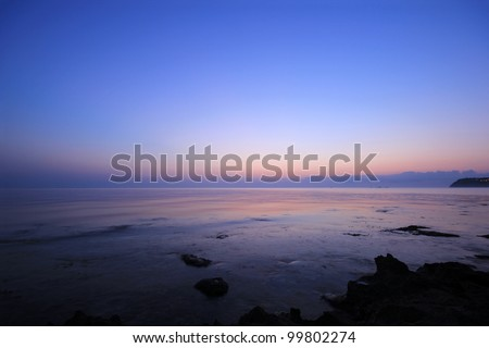 Sunrise over the Ionian sea on Zakynthos island Greece - stock photo