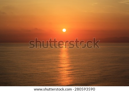 Sunrise over the South Pacific  - stock photo