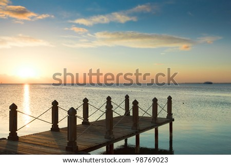 Sunrise Pier and Nobody