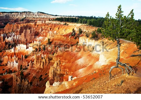 Sunrise Point in Bryce Canyon - stock photo