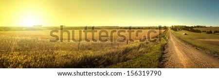 Sunrise Road - stock photo