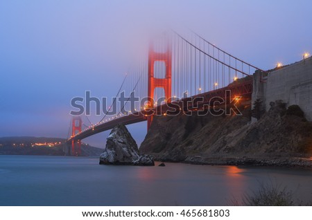 Sunrise San Francisco Golden Gate Bridge