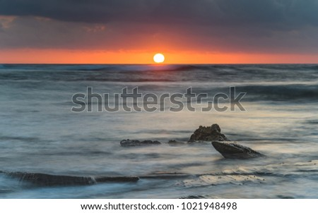 Sunrise Seascape - Capturing the sunrise from Toowoon Bay Beach on the Central Coast, NSW, Australia.