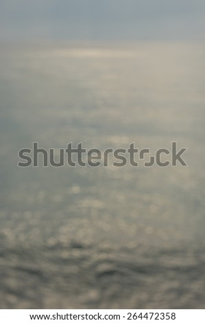 Sunrise Seascape (Soft focus, shallow DOF) - stock photo