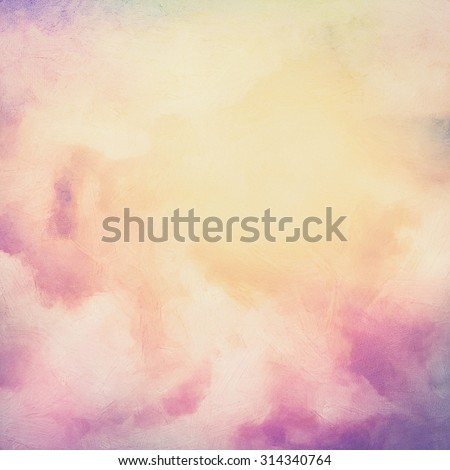 Sunrise sky digital watercolor painting abstract background - stock photo