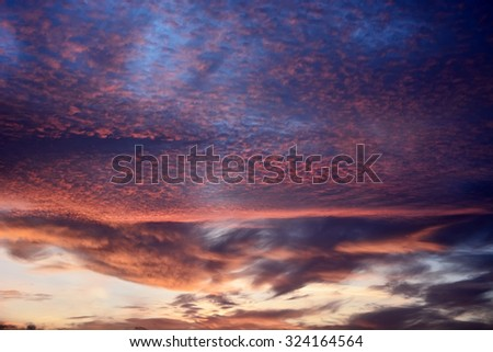 Sunrise sky. Picture can be used as a background - stock photo