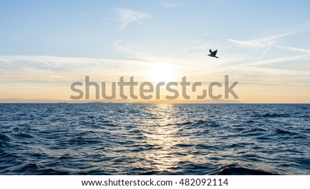 sunrise. sunset  at sea. wallpaper