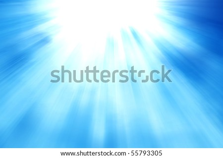 Sunrise under water - stock photo