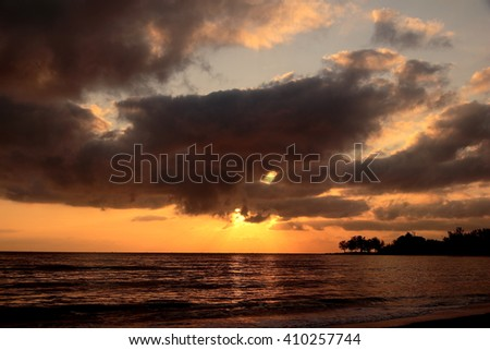 Sunrise view from the Gulf of Thailand , Songkhla