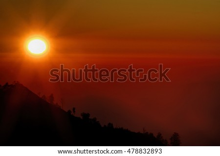 sunrise view of Mount Bromo