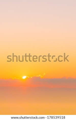 Sunrise with colorful sky - stock photo