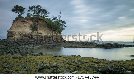 Sunrises over Torbay, New Zealand - stock photo