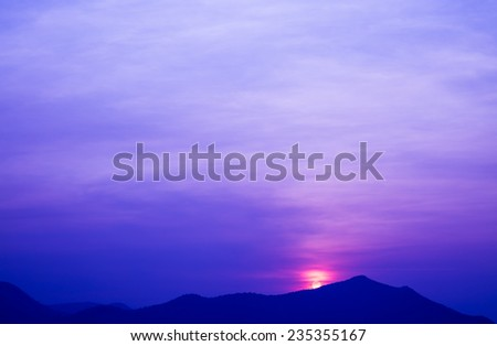 Sunset and beautiful sky