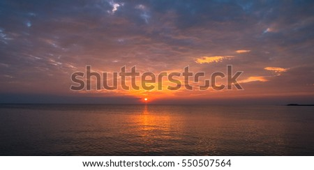 Sunset and sea view.