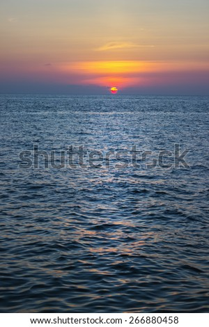 Sunset, Andaman Sea, Thailand - stock photo