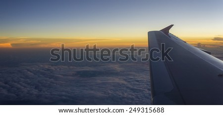 Sunset Arial View  - stock photo
