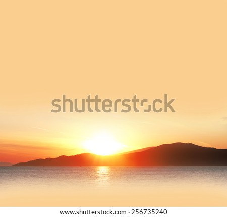 Sunset as the background - stock photo