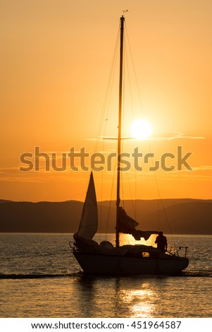 sunset at Balaton