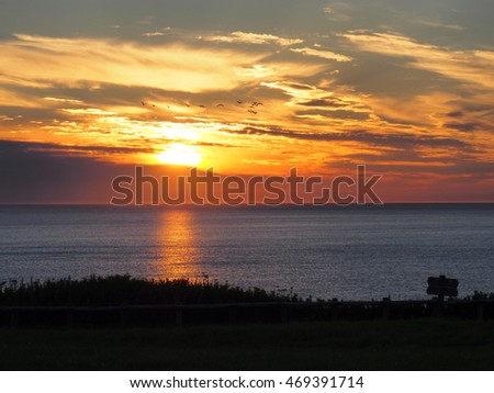 sunset at cape Notori