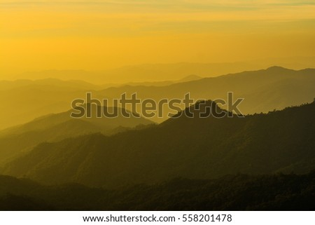Sunset at Doi Langka Luang Mountain