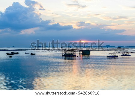 Sunset at East coast of Thailand