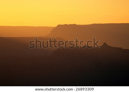 Sunset at Grand Canyon National Park, USA
