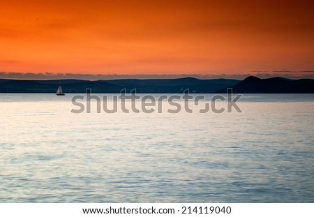 Sunset at lake Balaton