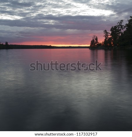 Sunset at Lake of the Woods, Ontario