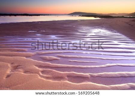 Sunset at Little Bay, Central Coast, Australia - stock photo