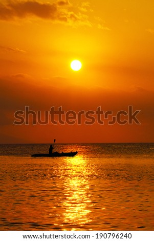 Sunset at Lombok Island, Indonesia