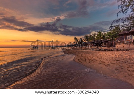 Sunset at Long Beach, Phu Quoc Island, Vietnam